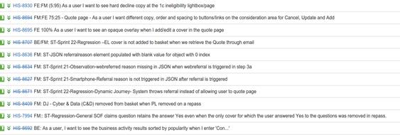 User stories 2
